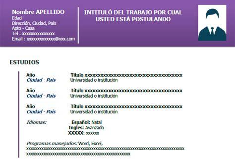 Modelo De Curriculum Vitae Moderno Gratis - Modelo De ...