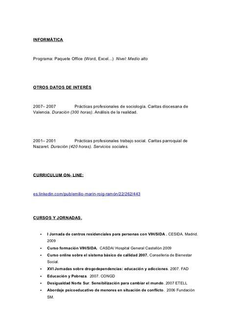 Modelo De Curriculum Vitae Trabajo Social - Modelo De ...