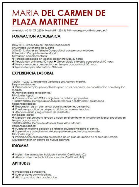 Modelo de CV para Trabajo de Verano | Muestra curriculum Vitae