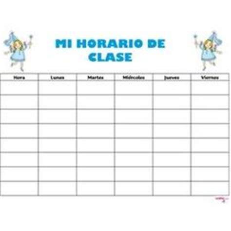 Modelo de horario escolar con dibujos | Materiales | Pinterest