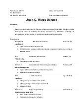Modelo de resumé en español