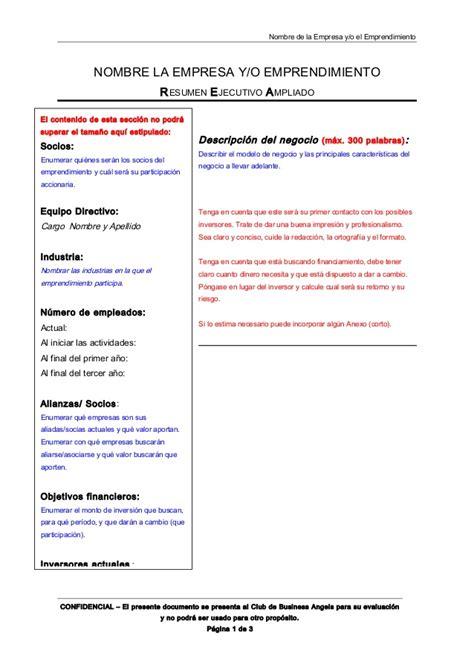 Modelo de Resumen Ejecutivo IAE