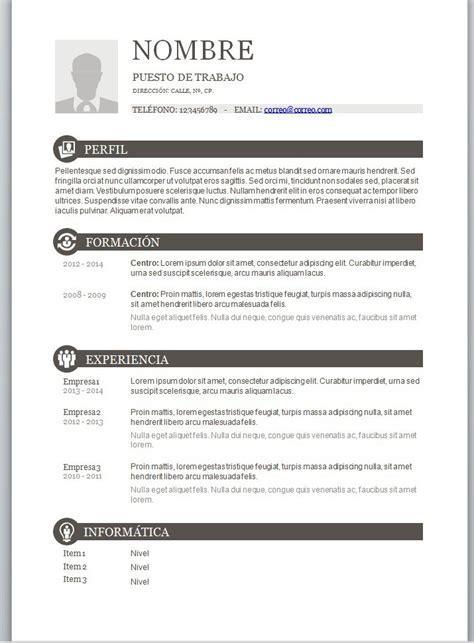Modelos de curriculum vitae en word para completar ...
