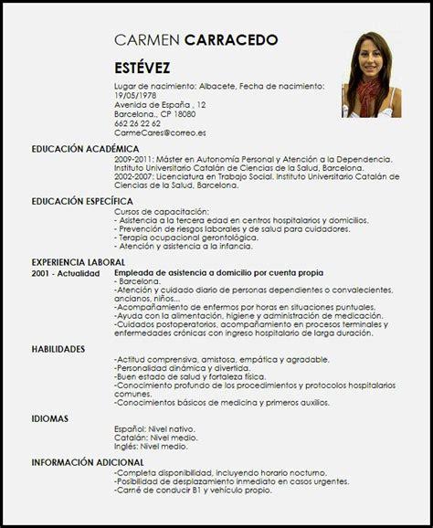 Modelos En Español De Curriculum Vitae - Modelo de ...