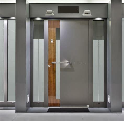 Modern Home Main Door Design With Dark Gray Wooden Single ...