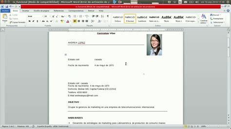 Moderno Resume Formato Para Trabajos Federales Colección ...