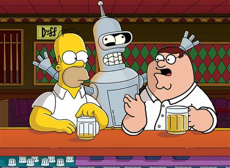 Moe s Bar Homer Bender Peter | This picture is an illusion ...