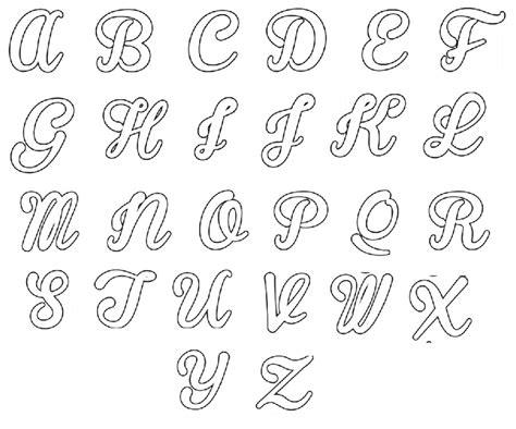 Molde de Letras para Imprimir e Recortar