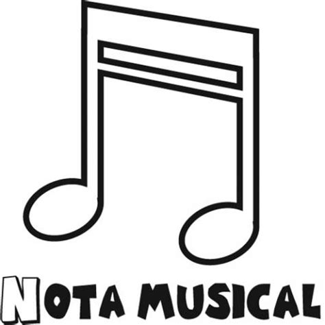 Molde de notas musicales - Imagui