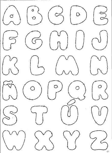 Moldes de letras del abecedario en foami   Imagui