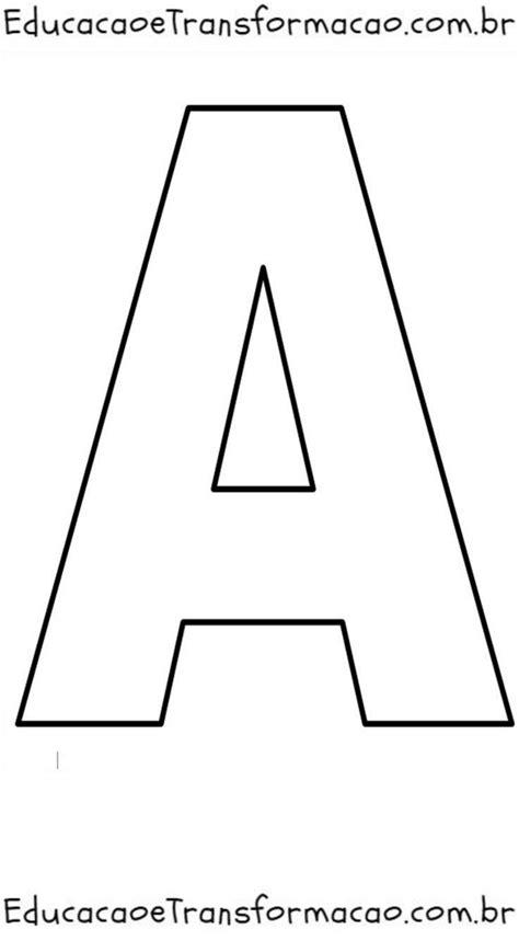 Moldes de Letras Grandes para imprimir - Pedagogia