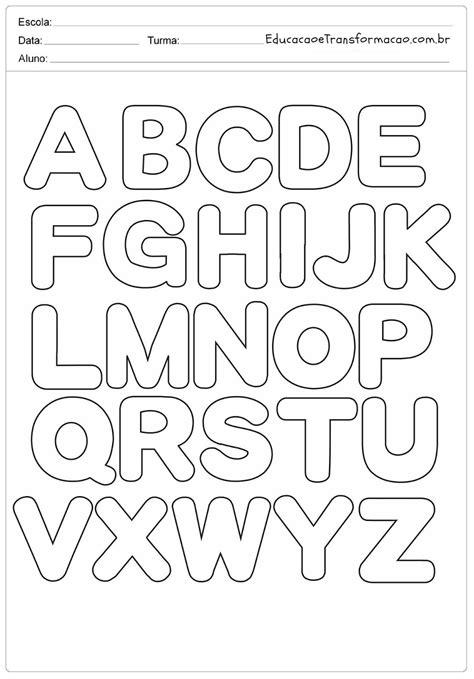 Moldes de Letras para imprimir - Letras do Alfabeto ...