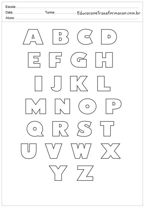 Moldes de Letras para imprimir   Letras do Alfabeto ...