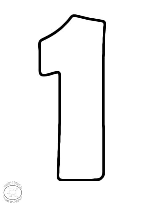 Moldes de numeros para imprimir y recortar - Imagui