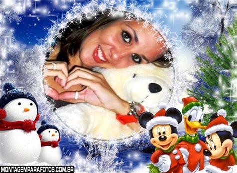 Moldura Natal Turma do Mickey | Montagem para Fotos