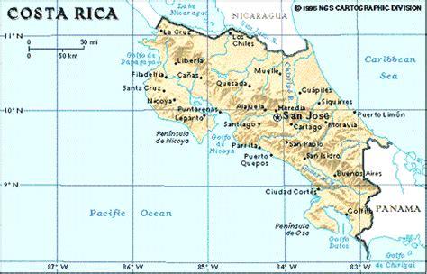 MONDO LATINO   Mapa y Estadísticas de Costa Rica