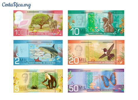Moneda de Costa Rica - Información General y tipo de cambio