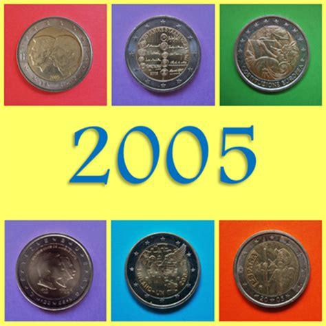 Monedas y Mundo: 2005: Monedas Conmemorativas de 2 Euros