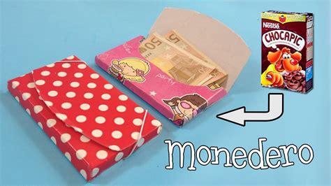 Monedero de cartón | Manualidades con reciclaje - YouTube