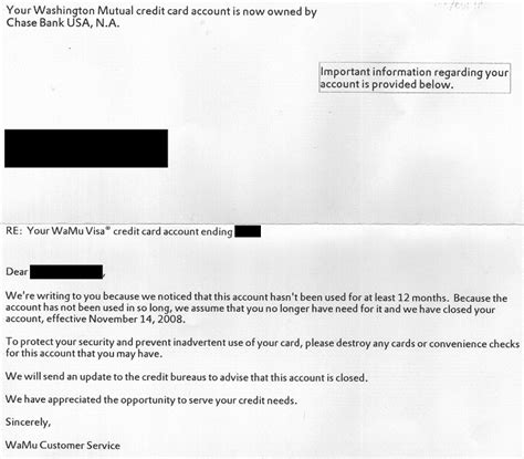 Money: Chase Cancels My WaMu Credit Card