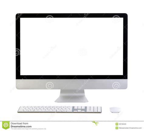 Monitor De Computadora Moderno Con La Pantalla En Blanco ...