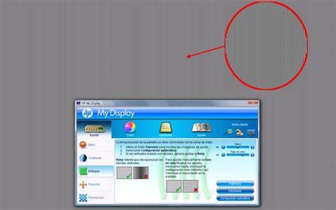 Monitores LCD HP - Configuración de ajuste de pantalla ...