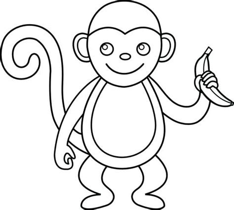monkey clip art black and white monkeys clipart monkey ...