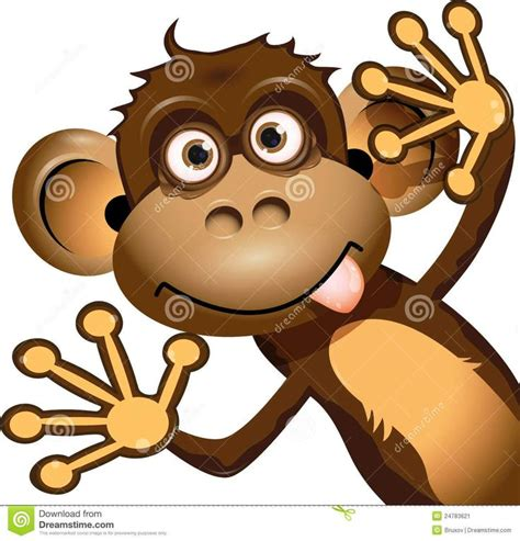 Monkey Making Funny Face Clip Art