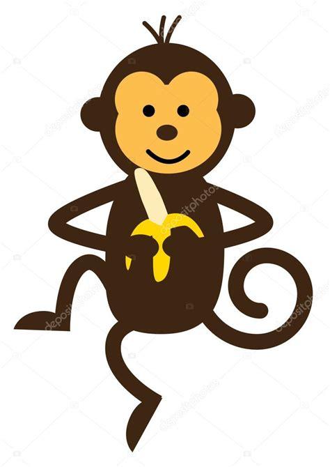 Mono Dibujo Animado. Graciosos Dibujos De Monos. Conjunto ...