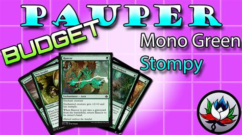 "Mono Green Stompy ""Budget"" Pauper Deck Tech for Magic: The ..."
