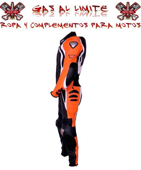 Mono para moto de 1 pieza con protecciones color naranja ...