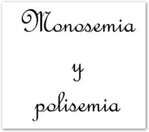 MONOSEMIA Y POLISEMIA