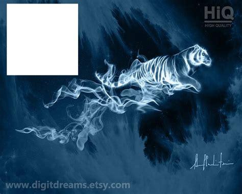 Montage photo tigre patronus   Pixiz