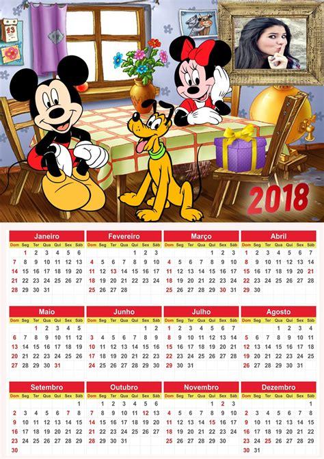 Montagem de fotos | Calendário | Calendario 2018 Mickey e ...