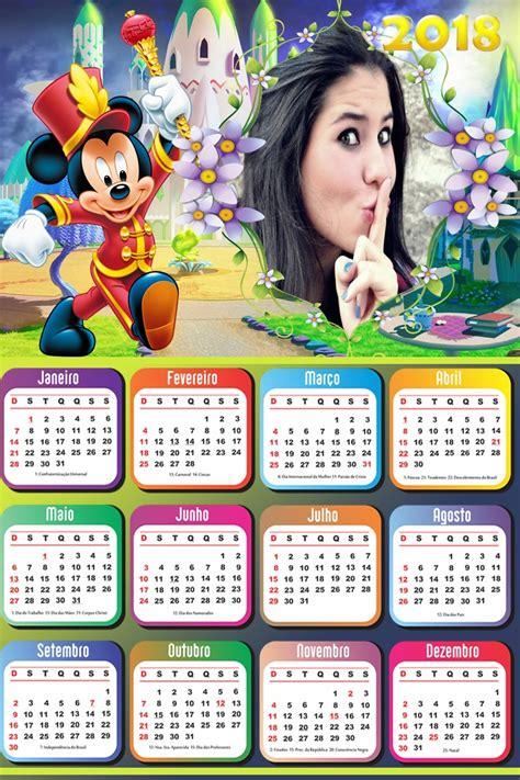 Montagem de fotos | Calendário | Calendário 2018 Mickey Mouse