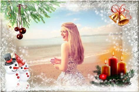 Montaje con decoración navideña