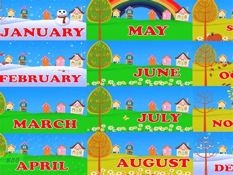 Months of the Year Song: Clip/Song 4:09   Months of the ...