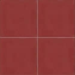 Moroccan Encaustic Cement Single Colour Tile Red