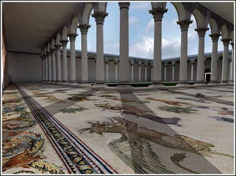 Mosaic Peristyle of the Great Palace near the Hippodrome ...