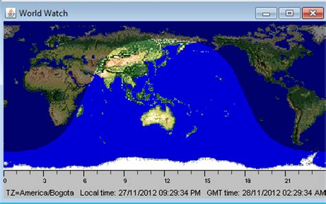mostrar mundo dia y noche en java con la hora mundial en ...