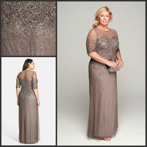 Mother of the Bride Dresses with Heavy Beadings Plus Size ...
