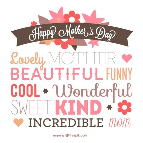 Mother's day typography design Vector | Free Download