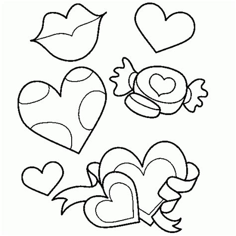 Mother s days coloring   love, heart, candy, kiss ...