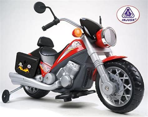 Moto eléctrica 6V para niños Injusa Custom Falcon con luz ...
