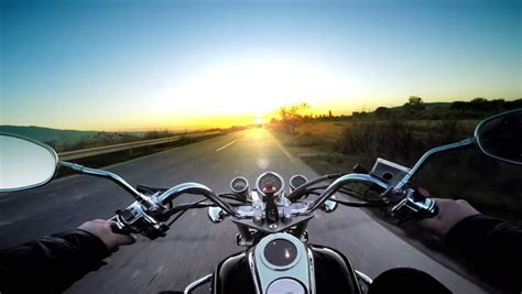 Motorcycle Ride Pov, Road Adventure Toward Sunset, 4k ...