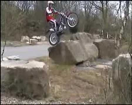 Motorcycle trial riding (Mika Vesterinen & Shaun Morris ...