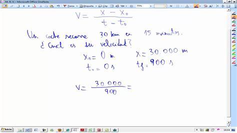 Movimiento Rectilineo Uniforme Teoria y problema Fisica y ...