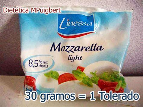 Mozzarella apta Dukan (30 gramos = 1 tolerado), en Lidl ...