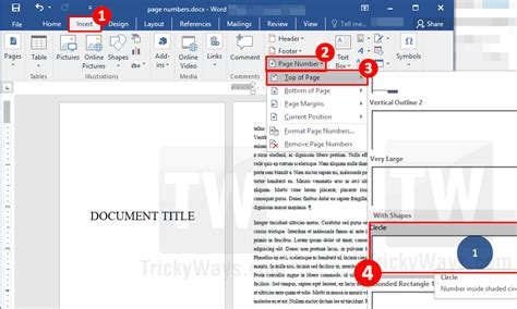 Ms Word Header.Add Page Numbers Starting From Specific ...