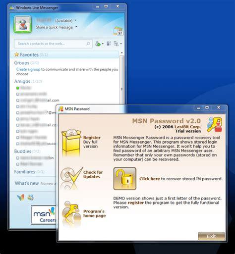 MSN Messenger Password   Download
